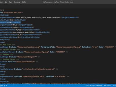 .NET MAUI - SDK-style Project File