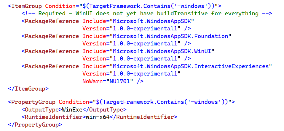 WindowsAppSDK (aka Project Reunion) Reference for targeting Windows via WinUI 3