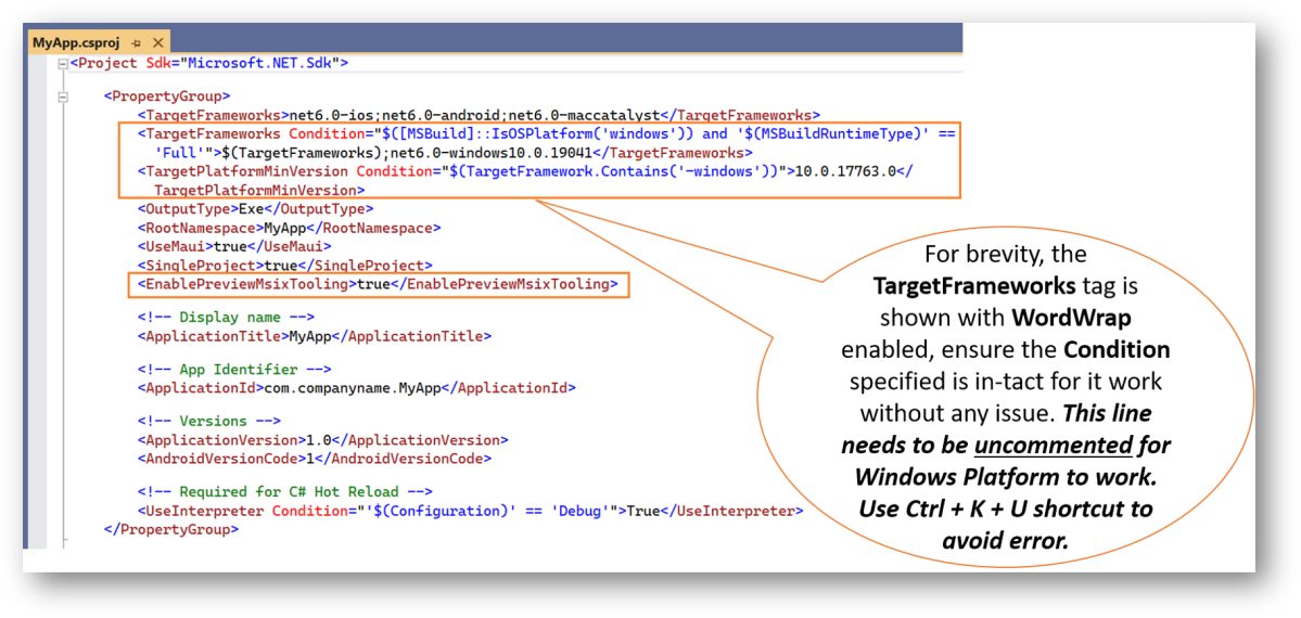 Windows Platform in .NET MAUI Single Project Ecosystem